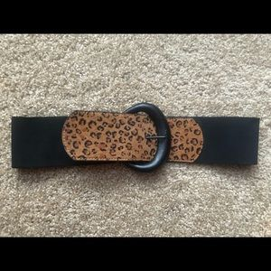 Peggy Bundy leopard print genuine leather belt